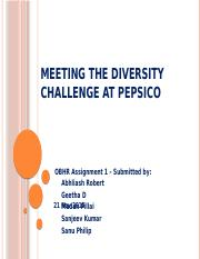 Meeting the Diversity Challenge at PepsiCo