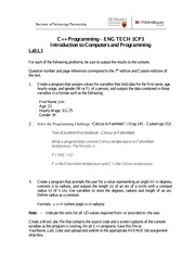 Lab 1: Introduction to computer programming