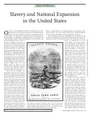 Slavery and National Expansion