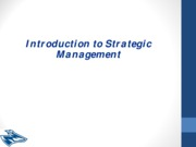 Chapter 1 - The Strategic management process