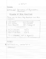 notes on 3.5- derivatives of trig functions