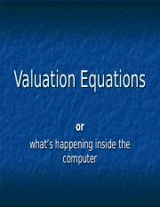 session 13 - valuation equations.ppt
