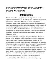 BRAND COMMUNITY EMBEDDED IN SOCIAL NETWORKS by Aamna Shahid.docx