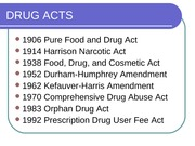 Class 1 DRUG ACTS