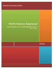Human Resources_Week 5_Performance Appraisals .docx