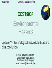 Lecture 11 short Technological hazards
