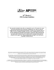 1994 AP Test Scoring Guidelines Question 1 and 2