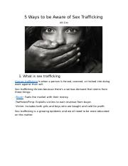 5 WAYS TO BE AWARE OF SEX TRAFFICKING.docx