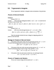 Calculus II Notes