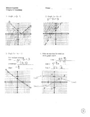 Review Packet Solutions Ch 6-7