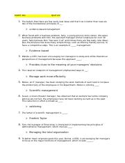MGMT 301 quiz #2 questions and answers