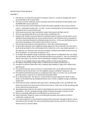 BUSI 601 Exam 2 Study Guide Questions Chapter 7-8-9