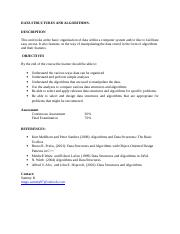 ICS 2105 DATA STRUCTURES AND ALGORITHMS COURSE OUTLINE-.doc