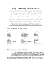 Early Christianity and the Church