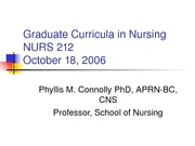 Nurs212oct1806Graduate_Curicula_in_Nursing