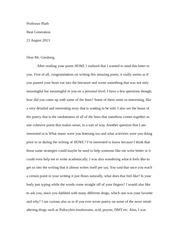 letter to ginsberg