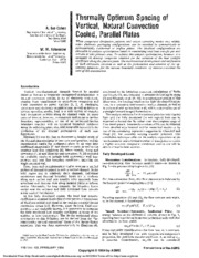 PAPER - Thermally Optimum Spacing of Vertical, Natural Convection Cooled, Parallel Plates