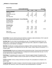 APPENDIX A Financial Analysis