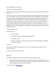 Written Assignment 2, Medicaid and Medicare 7-17-2015(3).docx