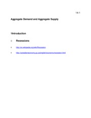 Chapter 14 Aggregate Demand and Aggregate Supply