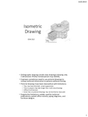 CIVI 212 Lecture 04-2_2015_Isometric drawing