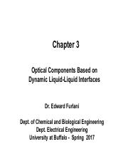 Chapter 3 - Optical Components - Dynamics L2 Interfaces - Spring 2017