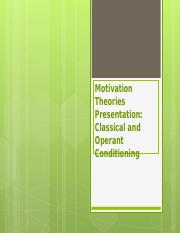 PSY  355 Week  2  Learning team Motivations and Theories Presentation.ppt
