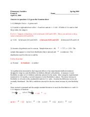 Exam 3 (2010) solutions