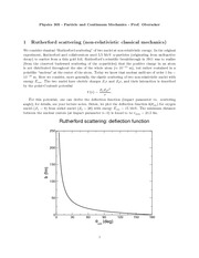 Physics 305_Lecture Notes on Rutherford Scattering