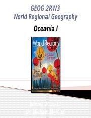 GEOG 2RW3 - Winter 2017 - Lecture 25 - World Regions X - Oceania I - student-A2L.pptx