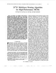 05 M2R - Multilayer Routing Algorithm for High-Performance MCMs