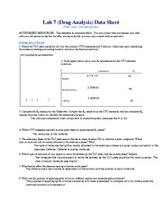 Lab 7 - Drug Analysis (TLC) Datasheet