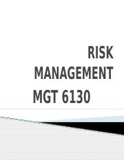 01. RISK MANAGEMENT Notes - Chapter 01.pptx