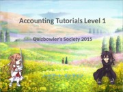 Accounting1-Tutorial