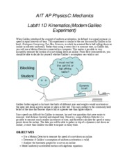 Lab1 1D Kinematics