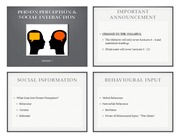 Lecture 3 - Person Perception and Social Interaction (High Quality, 4-up)
