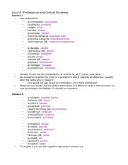 Unit 19; Professions and Ordinal Numbers.doc