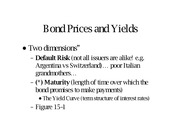 Bond Prices review