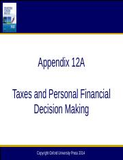 Chapter 12A Taxes and Personal Financial Decision Making_12e.pptx
