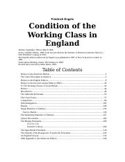 condition-working-class-england