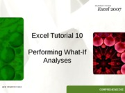 Excel 10 tutorial