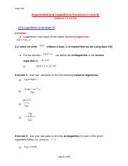 Math 180 - Exponential and Logarithmic Functions (13.4-13.6)