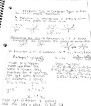 Different types of functions notes