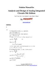 78556587 analysis and design of analog integrated circuits 5th rh coursehero com design of analog cmos integrated circuit solution manual analog integrated circuit design ken martin solution manual