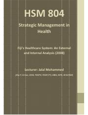 Week 3 & 4_Fiji_s_Healthcare_System_-_An_External_and_Internal_Analysis