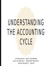 Understanding the Accounting Cycle-Week 6 assignment