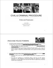 SLIDES - Police and Prosecutors