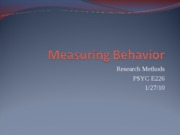 Measuring Behavior 1.27
