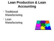 Lean Production and Accounting
