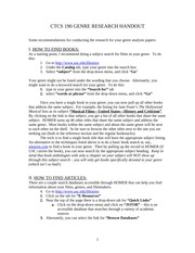 CTCS 190 - Research Handout(S10)